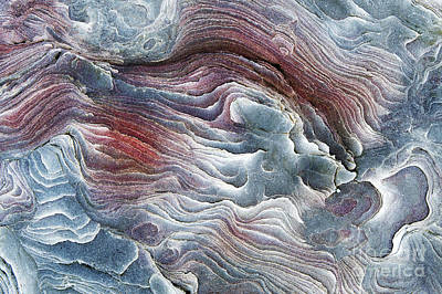 Mineral Photograph - Flow Of Erosion by Tim Gainey