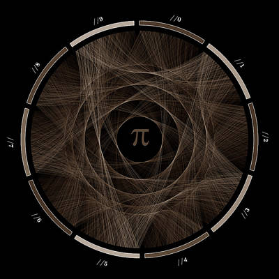 Math Digital Art - Flow Of Life Flow Of Pi #2 by Cristian Vasile