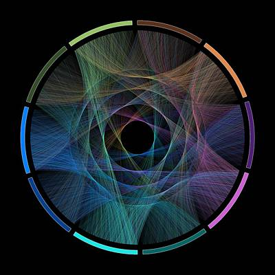 String Digital Art - Flow Of Life Flow Of Pi by Cristian Ilies Vasile