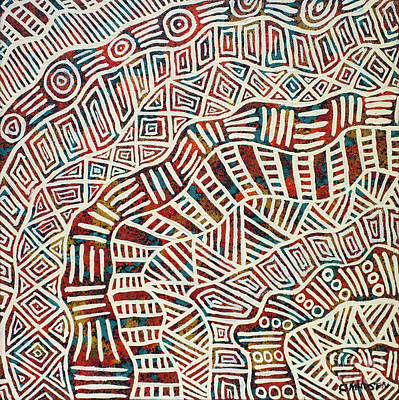 Indigenous Australians Painting - Flow On by Clifford Madsen