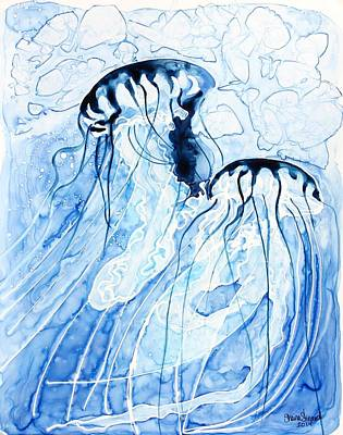 Deep Blue Painting - Flow by Shaina Stinard