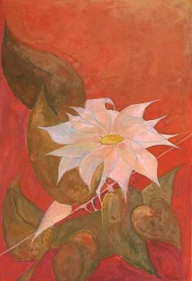 Abstract Tree Painting - Flower 10 by Wojtek Kowalski