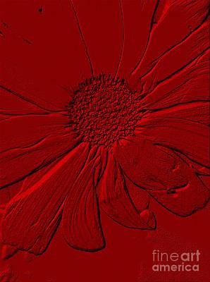 Digital Art - Red Flower. Created by Oksana Semenchenko
