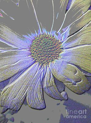 Digital Art - Purple And Grey Queen. Flower by Oksana Semenchenko