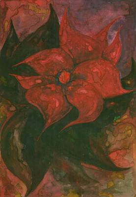 Avesome Painting - Flower 6 by Wojtek Kowalski