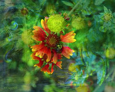 Flower Abstract Art Print by J Larry Walker