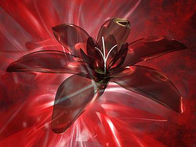 Digital Art - Flower Abstract by Louis Ferreira