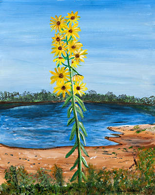 Painting - Flower Amidst Drought by Susan Abrams