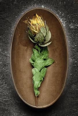 Flower And Bowl Art Print