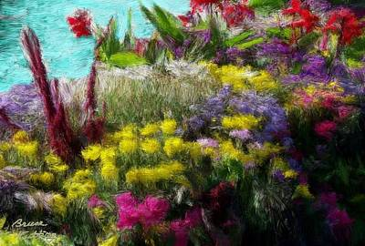 Stream Painting - Flower Arrangement by Bruce Nutting