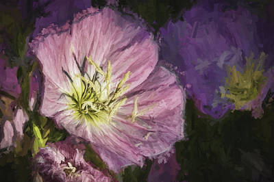 Art Print featuring the painting Flower At 4pm by Ike Krieger