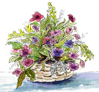 Painting - Flower Basket I by Diane Thornton