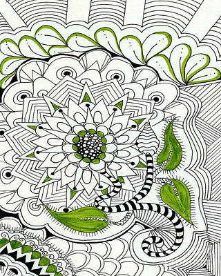 Zentangle Mixed Media - Flower Basket by Ruth Dailey
