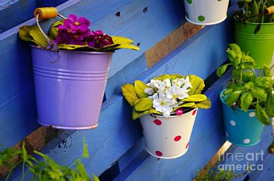 Flower Baskets Art Print