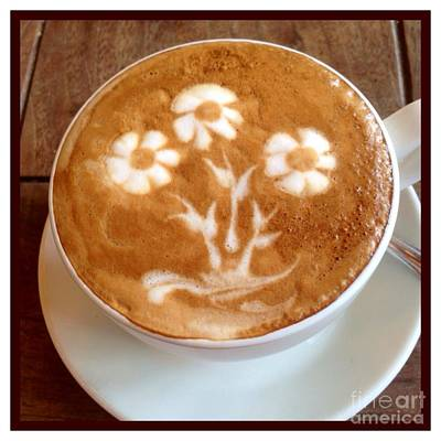 Photograph - Flower Bouquet Latte Art by Susan Garren