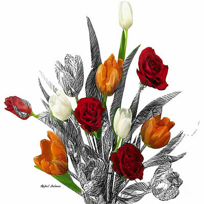Digital Art - Flower Bouquet by Rafael Salazar