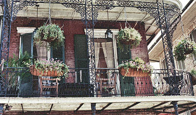Photograph - Balcony On The French Quarter by Nadalyn Larsen