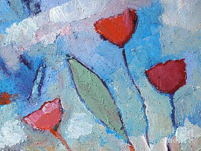 Textured Paint Painting - Flower Breeze by Lutz Baar