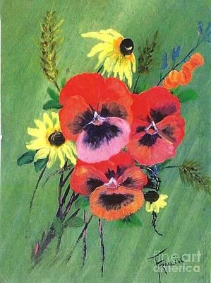 Painting - Flower Bunch by Francine Heykoop