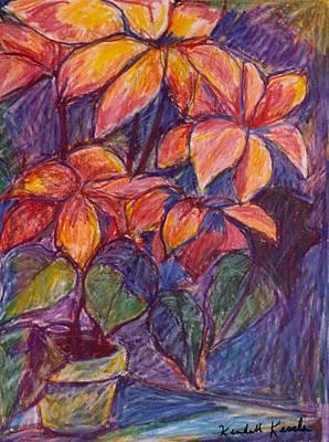 Best Sellers - Still Life Drawings - Flower Burst by Kendall Kessler