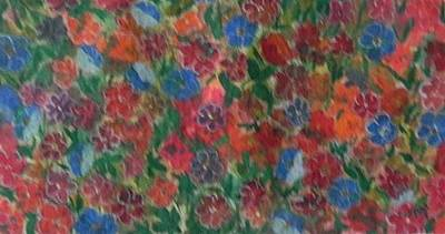 Painting - Flower Carpet by Usha Rai