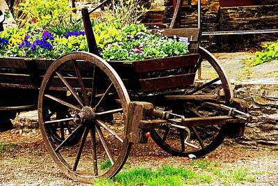 Flower Cart Art Print by Design Windmill
