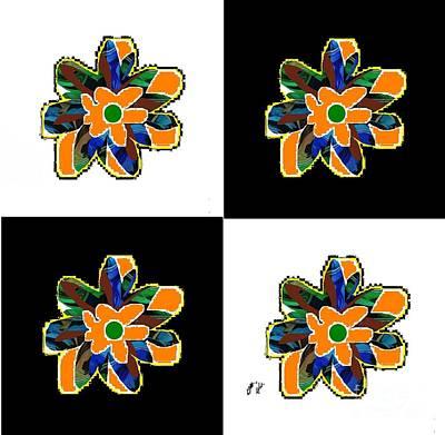 Digital Art - Flower Dance by Ann Calvo