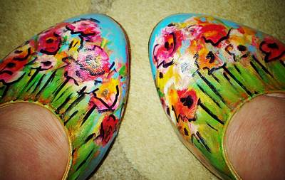 Painting - Flower Dancing Shoes by Laura  Grisham