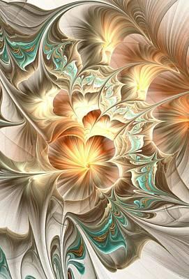 Gentle Digital Art - Flower Daze by Anastasiya Malakhova
