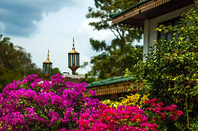 Photograph - Flower Decoration Of Golden Temple Of Dambulla by Jenny Rainbow