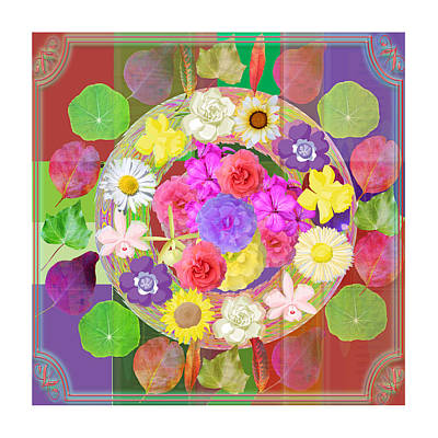 Flower Disc Rose Flower Petal Art Texture N Color Tones Navinjoshi  Rights Managed Images Graphic De Print by Navin Joshi