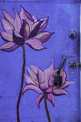 Blue Doors Photograph - Flower Door by Garry Gay