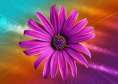 Gerber Daisy Photograph - Flower Empowered by Bill Tiepelman
