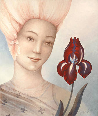 Conscious Painting - Flower Fairy by Judith Grzimek
