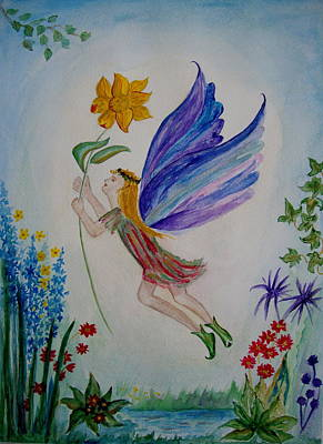 Painting - Flower Fairy by Veronica Rickard