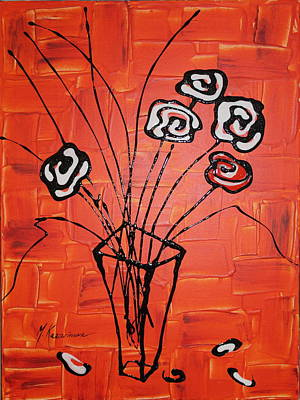 Abstract Flower Painting - Flower Fantasy IIi by Mariya Kazarinova
