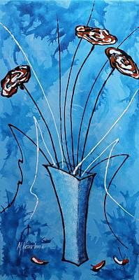 Abstract Painting - Flower Fantasy V by Mariya Kazarinova