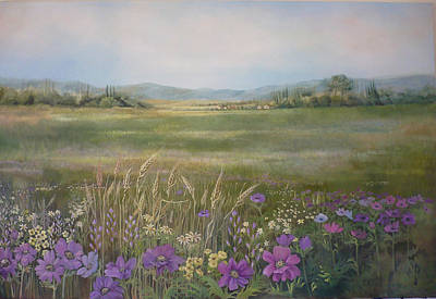 Painting - Flower Field by Caroline Philp
