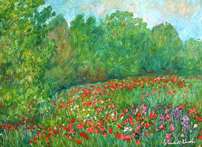 Flower Field Art Print by Kendall Kessler