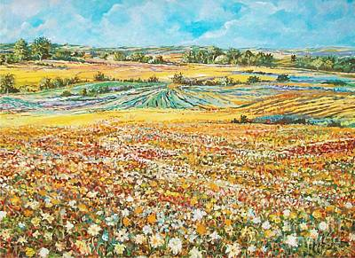 Painting - Flower Field by Sinisa Saratlic