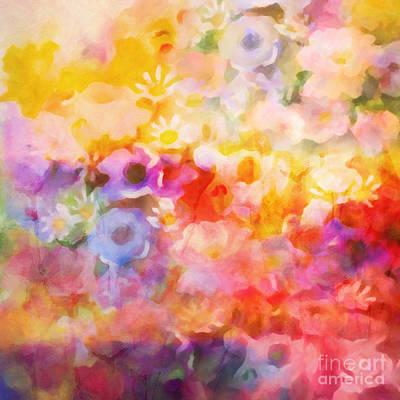 Fiesta Painting - Flower Fiesta by Lutz Baar