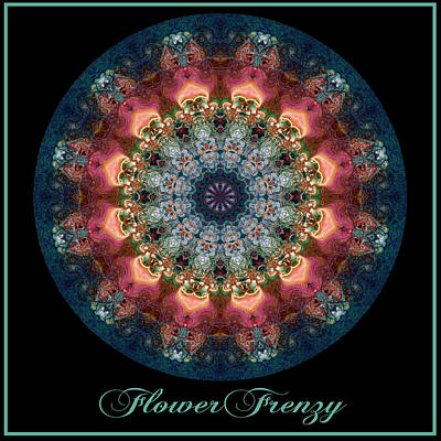 Digital Art - Flower Frenzy No 4 by Charmaine Zoe