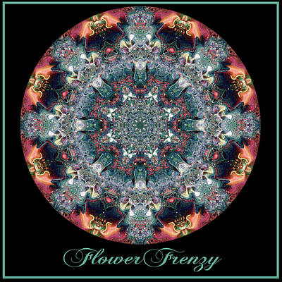 Digital Art - Flower Frenzy No 6 by Charmaine Zoe