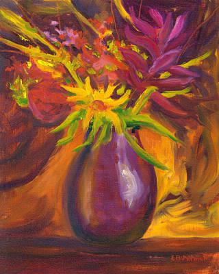 Flower Fushion Original by Elaine Farmer