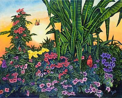 Painting - Flower Garden Iv by Michael Frank