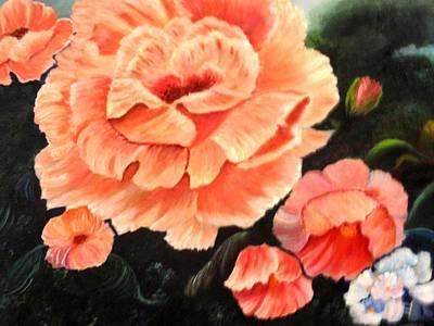 Viridian Painting - Flower Garden by Janis  Tafoya