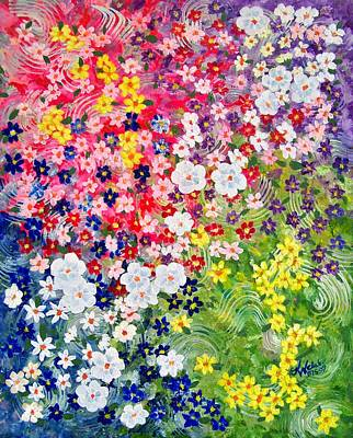 Painting - Flower Garden by Kathern Welsh