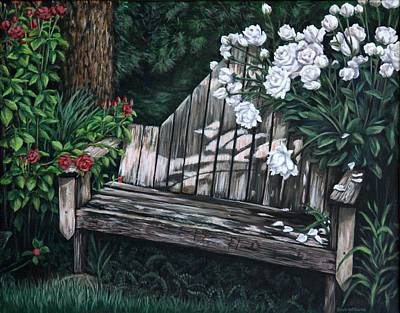 Flower Garden Seat Art Print by Penny Birch-Williams