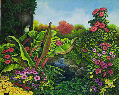 Painting - Flower Garden Vi by Michael Frank