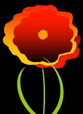 Flower Art Print by Gayle  Thomas